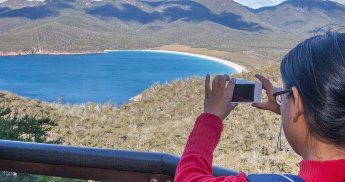 Wineglass Bay Tour, Hobart, Tasmania, Wineglass Bay Day Tours, take photo of wineglass bay