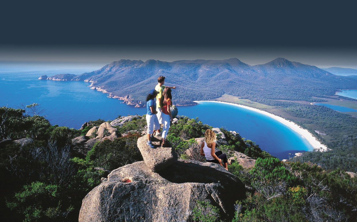 Freycinet National Park view from mount amos, best tour, hobart, photography, tasmania