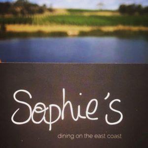 Sofies Restaurant sign East Coast Tasmania
